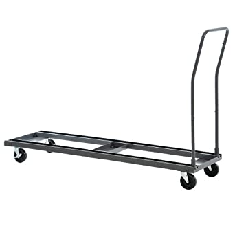 "Sandusky Lee DO102172TA-02 Charcoal Steel Folding Table Cart, 1000 lb. Load Capacity, 42"" Height x 20-1/2"" Width x 72"" Length"