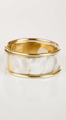 Zad Jewelry Shell Knife Edge Bangle (B6206) - Pearl