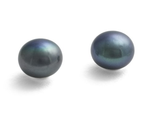 Jersey Pearl Sterling Silver Cultured Freshwater Large Pearl Earrings