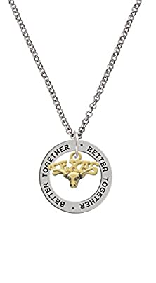 buy Small Gold Tone ''Texas'' Longhorn Better Together Affirmation Ring Necklace