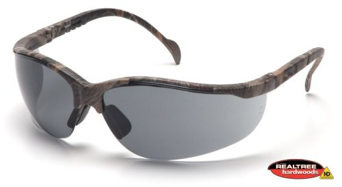 Pyramex Venture II Safety Eyewear, Gray Lens With Realtree Hardwoods Hd Frame