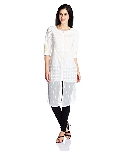 W for Woman Women's Straight Kurta (16FE15732-57227_White_6)