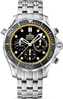 Omega Seamaster Diver Co-axial Automatic Chronograph Black Dial Stainless Steel Mens Watch 21230445001002 from Omega