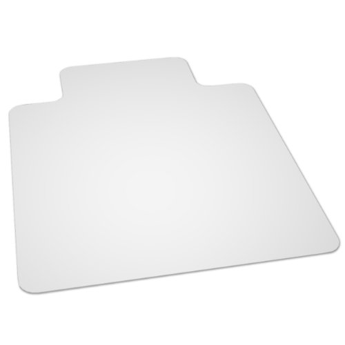 by 48 inch multitask series hard floor with lip vinyl chair mat clear