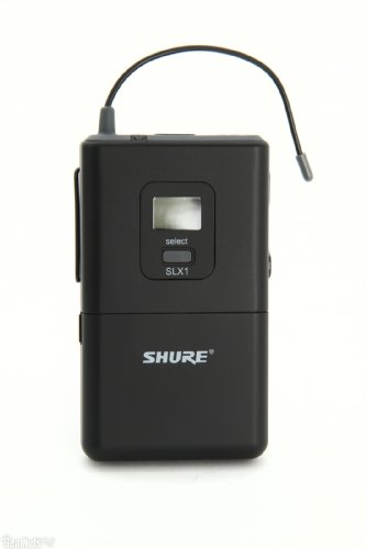 Shure Wireless Bodypack Transmitter | Slx1 With Backlit Lcd With Timeout Feature, (H5: 518 - 542 Mhz)