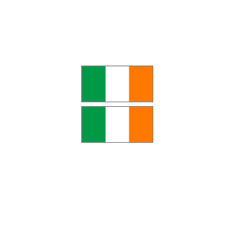 2 Ireland Irish Flag Stickers Decal Bumper Window Laptop Phone Auto Boat Wall