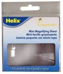 Helix 3X Magnifying Sheet, 3 x 2 Inch, Clear (32523)