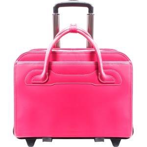 mcklein-willowbrook-fuchsia-detachable-wheeled-ladies-briefcase-94983