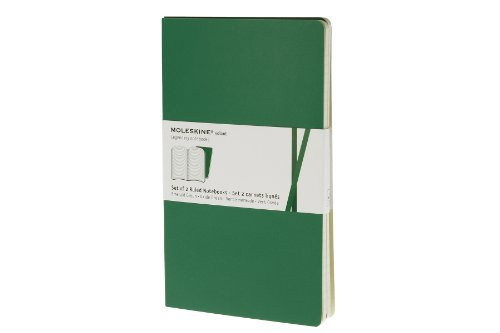 Moleskine Ruled Volant Notebook Large Emerald 