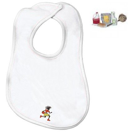 Embroidered Infant Terry Bib with the image of: cleaning supplies