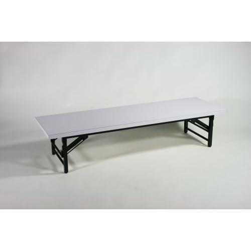 ■折畳み 会議テーブル 会議用テーブル 座卓(ロータイプ) ミーティングテーブル■150x45x33cm■7650M-WH