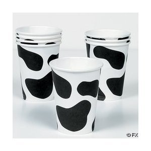 Cow Print Paper Cups - Set of 8!