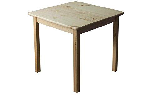 Tisch 80x80 cm, Farbe: Natur