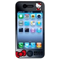 Hello Kitty Kt448 Iphone 4 Clear/Mirror Screen Protector - 2 Pack - Retail Packaging