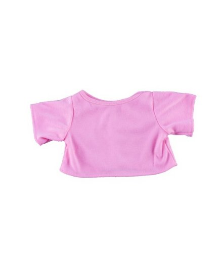 "Pink T-Shirt Fits Most 8""-10"" Webkinz, Shining Star and 8""-10"" Make Your Own Stuffed Animals and Build-A-Bear - 1"
