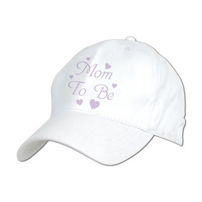 Embroidered Mom To Be Cap Party Accessory (1 Count) (1/Pkg) front-896669