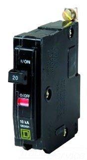 Square D Bolt-On Circuit Breaker, 20 Amp, Qob120