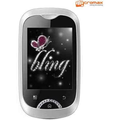 Micromax Bling 2 Mobile Phone Dual Sim Android with 2.8 inch display, 1000 mAh Battery, Touchscreen (No Warrranty)