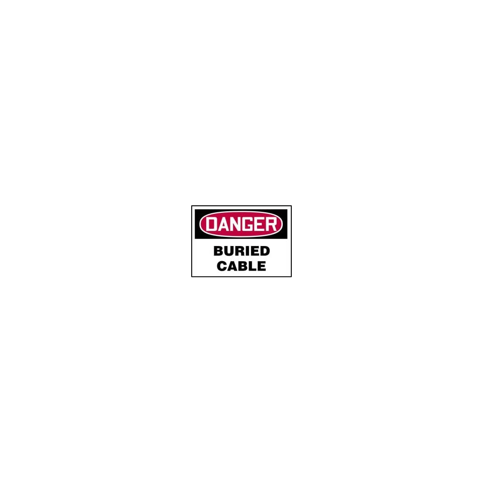DANGER Labels BURIED CABLE 5 x 7 Adhesive Vinyl