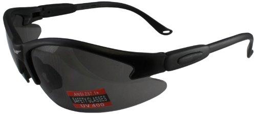Global Vision Safety Shop Glasses (Black Frame/Smoke Lens)
