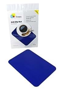 "Tenura 75373-2502 Blue Silicone Non-Slip Table Mat, 10"" Length x 7"" Width"