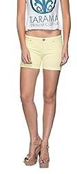 TARAMA Yellow color Shorts for women