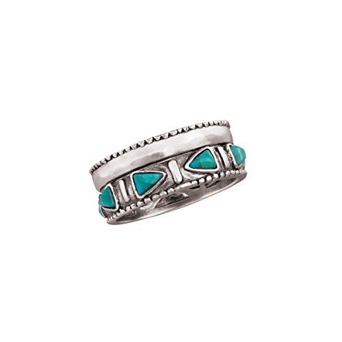 Silpada 'Trailblazer' Compressed Turquoise and Sterling Silver Ring (Silver Turquoise Ring compare prices)