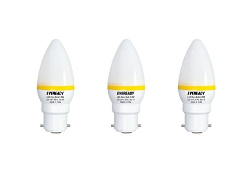 0.5W Yellow Deco LED Candle Bulb (Pack of 3)
