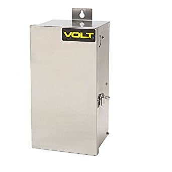 VOLT 7300W-1215 Landscape Transformer, 300W, 12V to 15V Multi Tap, Toroidal Core, Stainless Steel Case, 5-1/2' Line Voltage Power Supply included