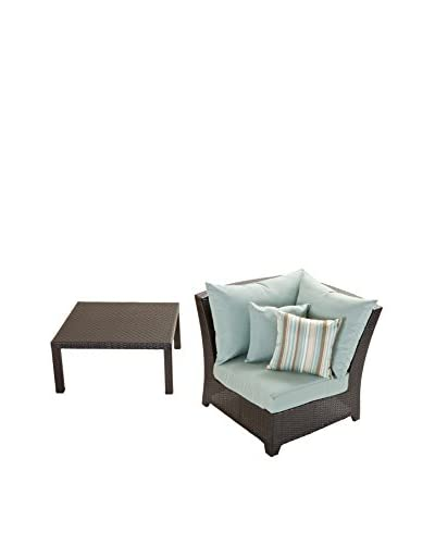 RST Brands Deco Corner Chair & Table Set, Blue
