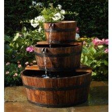 Apollo Edinburgh Wooden Barrel Design Water Feature