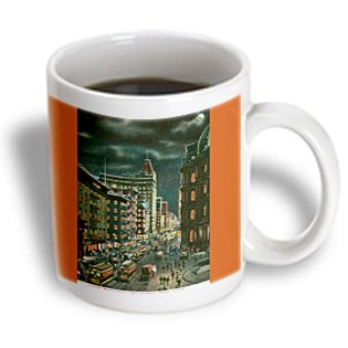 Mug_170140_2 Bln Scenes Of New York City Collection - Lower Broadway By Night, New York City - Mugs - 15Oz Mug