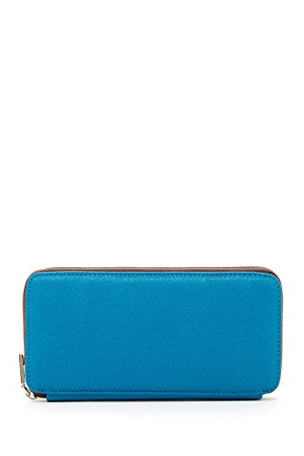 Hobo International Lucy Wallet in Saffiano Blue