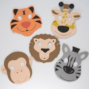 Zoo Animal Foam Masks (1 dz)