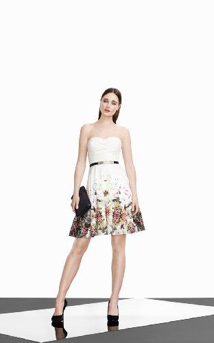 Silk Floral Print Prom Dress