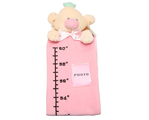 U-b Cuddly Height Measuring Baby Plush Ruler Toy / Yellow Duck, Pink Charter - 1
