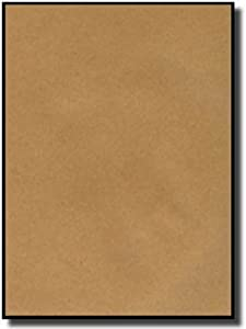 100 Label Outfitters® Full Size Sheet Brown Kraft Labels, Same Size As Avery 5165