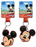 Disney Mickey Mouse Laser Cut Keychain- Smile Face Rubber Keyring