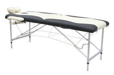 Exacme Aluminum Portable Massage Table Bed Spa W/Carrying Case - Black/White