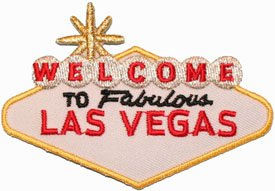 Welcome To Fabulous Las Vegas Travel Souvenir Iron On Applique Patch White front-58468