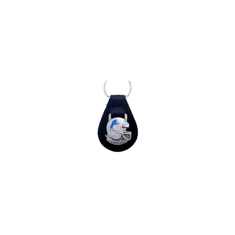 Detroit Lions Small Leather Key Ring