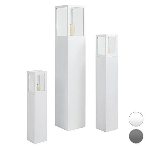 SET LANTERNE DA ESTERNO SET LAMPADE DA ESTERNO SET PORTA CANDELE GIARDINO (bianco)
