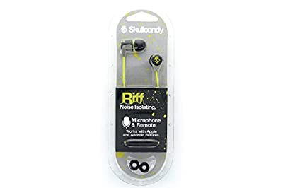 Skullcandy Riff Ear Bud with Mic, for All 3.5mm Phones and Devices - Hot Graylime