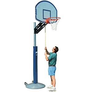 Buy Bison Qwik Change™ Outdoor Portable Adjustable Basketball System with Rectangular Acrylic Backboard by Bison