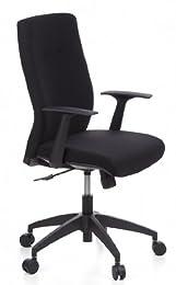 Hjh Office Focus 30 Siège de bureau type fauteuil de direction - Tissu - Noir