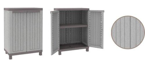deal 2 x mittlerer kunststoffschrank mit toller holz maserung ber die gesamte fl che im neuen. Black Bedroom Furniture Sets. Home Design Ideas