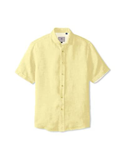 Report Collection Men's Long Sleeve Solid Linen Shirt