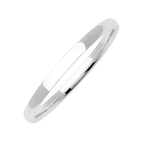 Platinum Men'S Traditional Classic Wedding Band (2Mm) Size-13