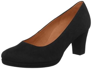 Gabor Womens Ella S Court Shoes 92.190.47 Black Suede 6 UK, 39 EU