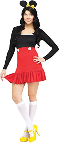 Funworld Womens Animals Sexy Miss Mikki Mouse Adults Halloween Themed Costume